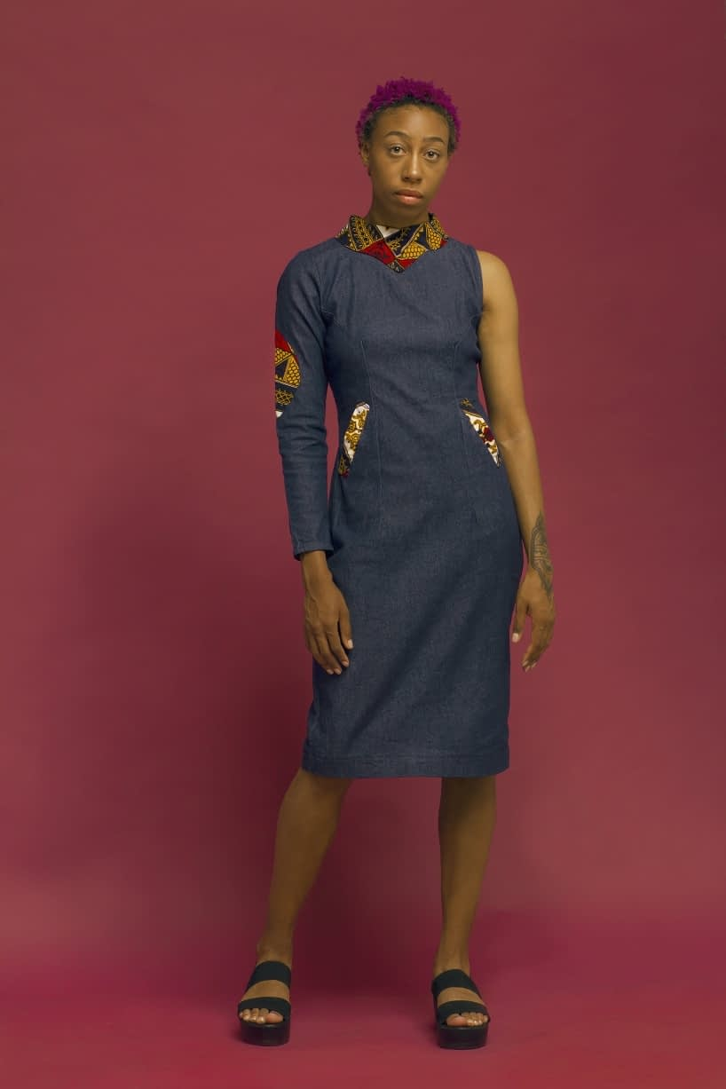 THE MUSU DENIM DRESS